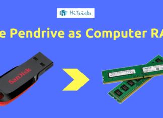 Trick to Increase Computer RAM Memory using Pen Drive