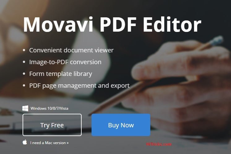 Movavi PDF Editor for Windows Review – HiTricks