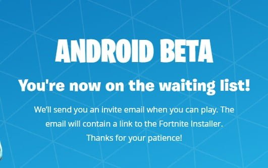 fortnite android download list