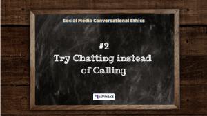 Social Media 'Conversational Ethics'