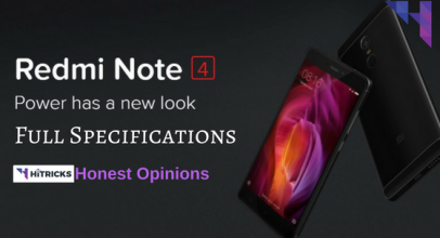 Redmi Note 4 Full Phone Specifications and Honest Opinions