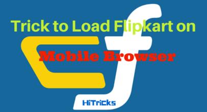 Trick to Open Flipkart on Mobile Browser