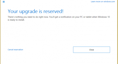 Reserve Upgrade: Windows 10 Free Download