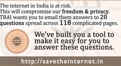 #IndiaWantsNetNeutrality: Join the Net Neutrality Protest